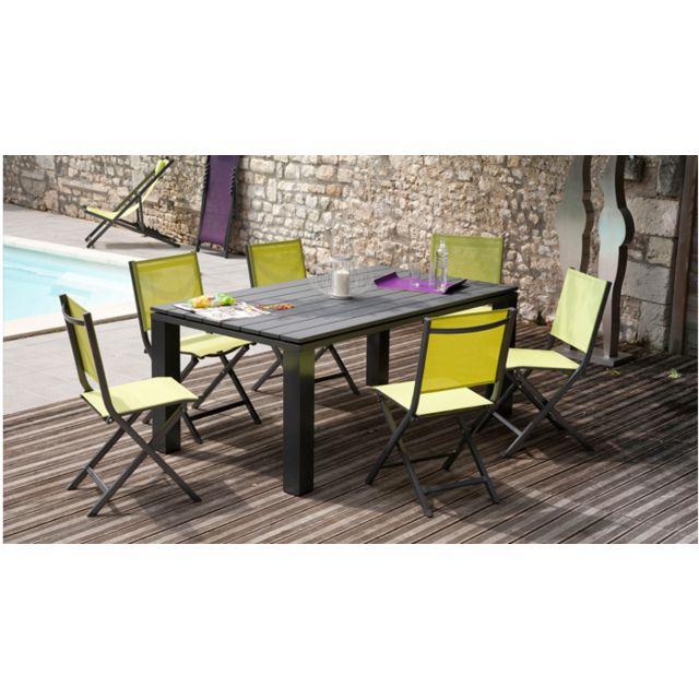 Proloisirs - Salon de jardin Elena 1 table + 6 chaises - pas ...