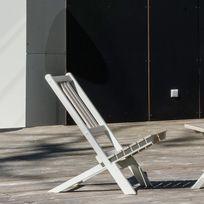 City Green - Chaise basse de jardin en acacia hybride hauteur 70cm lot de 2, Burano