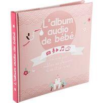 Touslescadeaux - Album de Naissance Audio et Photos - Avec boitier enregistreur - Fille
