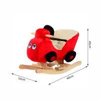 HOMCOM - Jouet à bascule modèle voiture ceinture de sécurité fonction musicale 32 pistes neuf 17