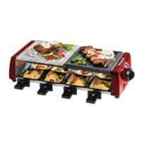 Techwood - Trgp-685 Appareil a raclette - 8 personnes - Rouge