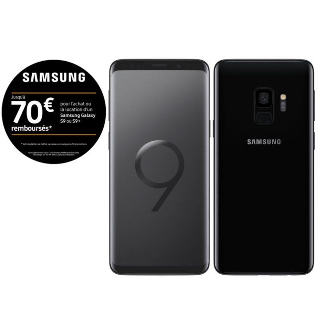 samsung galaxy s9 64 go noir carbone pas cher achat vente smartphone android android. Black Bedroom Furniture Sets. Home Design Ideas