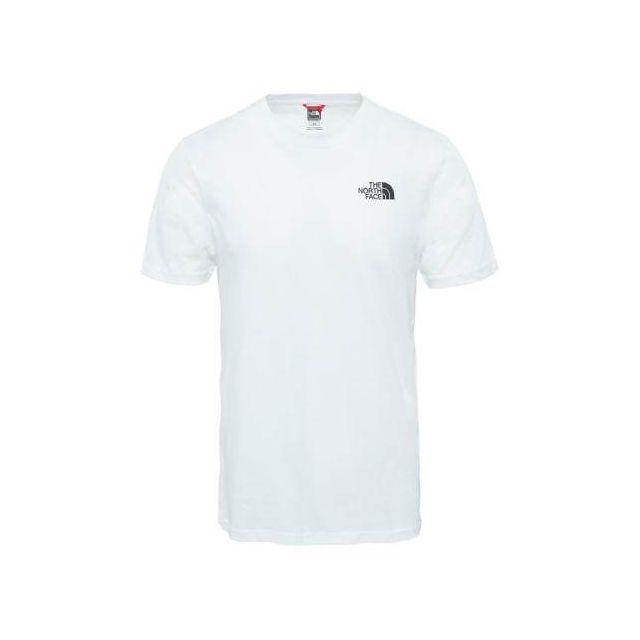 e397fc0f817b8 The north face - Tee-shirt Simple Dome manches courtes blanc - pas cher  Achat / Vente Chemises, tee-shirts, débardeurs - RueDuCommerce