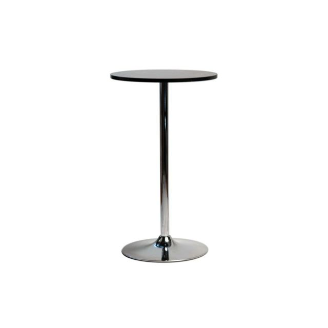 Mdf Table Haute Noir Carré Bois 102 Cm Table De Bistrot