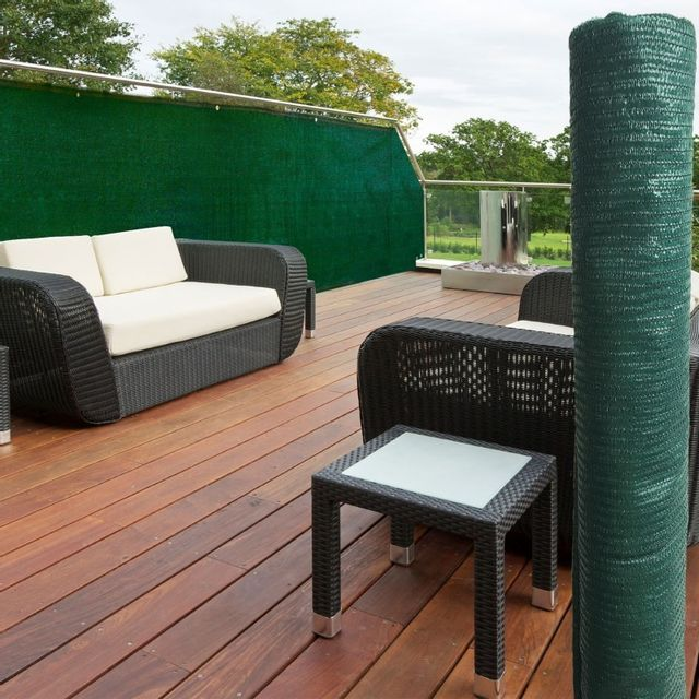 IDMARKET Brise vue vert 1,5 x 10 m 90 gr/m² classique