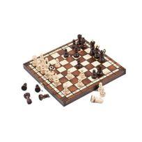 Prime Chess - 27.9cm Perle Voyage Bois Set D'échecs 29cm brûlé Design