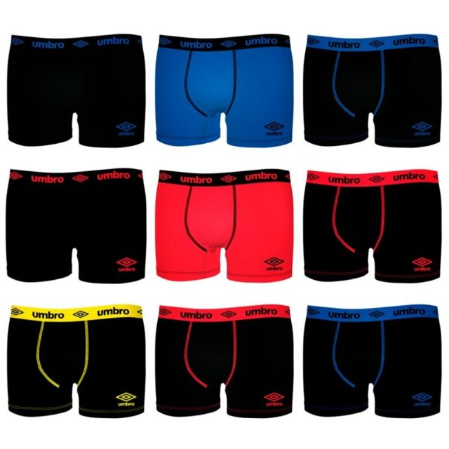 Umbro Lot de 9 boxers Unis
