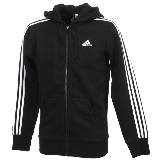 Sweats Sw Noir Vestes Capuche Zippés 3s Black Ess Adidas Fzcap E92DHI