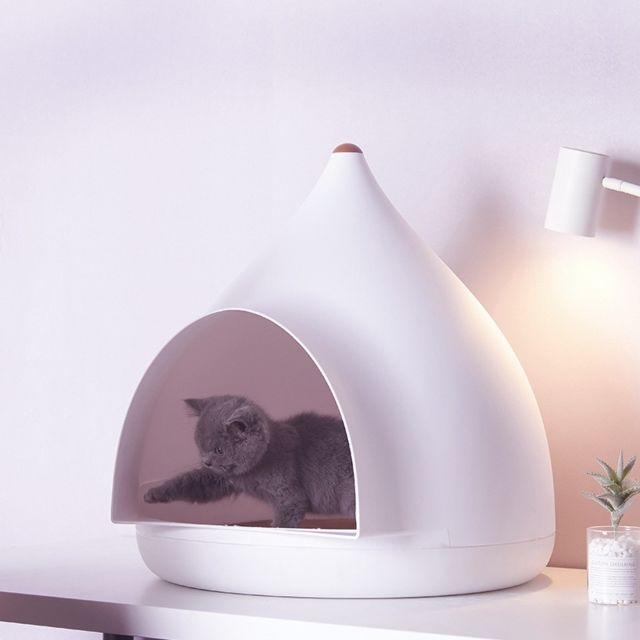 Wewoo Panier pour chien ou Chat Coussin Maison animaux de compagnie Apex ronde mignonne et simpleSpécifications 50X50X52cm
