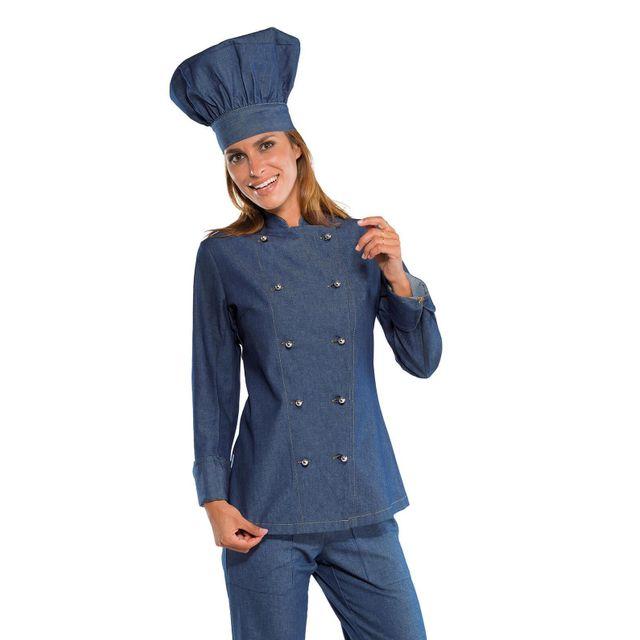 Isacco Veste De Cuisine En Jeans Pour Femme Pas Cher Achat