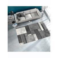 Un Amour De Tapis - Tapis Brillance Geometrique Tapis Moderne par Unamourdetapis gris 60 x 110 cm