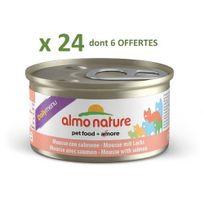Almo Nature - Promo 24 Boites De Mousse au saumon Daily menu 85G