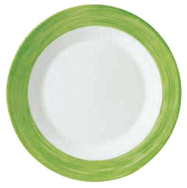 Lebrun Assiette plate 23.5 cm vert Brush