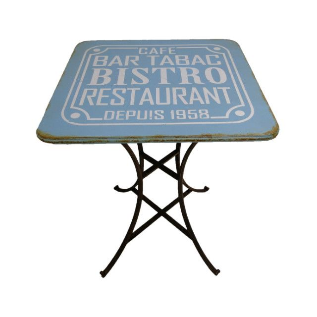 ANTIC LINE CREATIONS Table bistro vintage