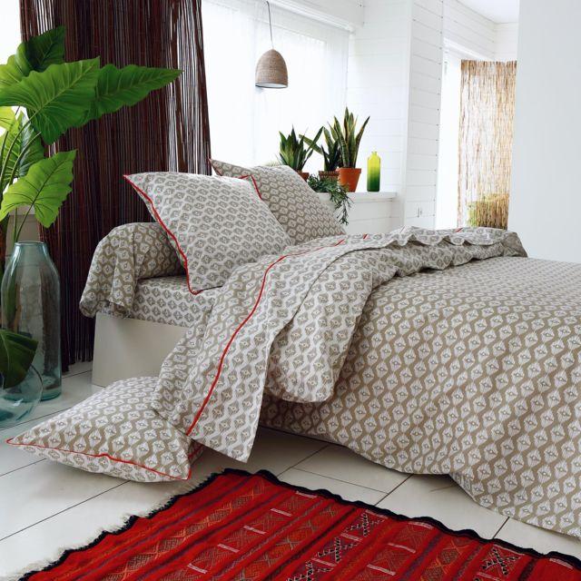 linnea parure de lit 260x240 cm 100 coton acapulco 3. Black Bedroom Furniture Sets. Home Design Ideas