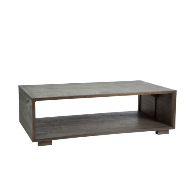 Design And Vintage Table basse de salon Malaga 2 bois gris et naturel