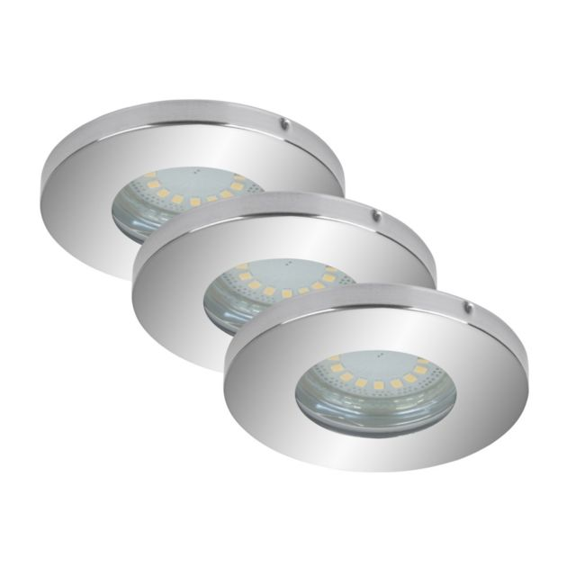 Briloner Leuchten Set 3 Led Encastrables Orientables Briloner Gu10 5W D85mm Chrome