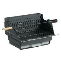 Invicta - Barbecue charbon en fonte à poser avec rotissoir Assouan