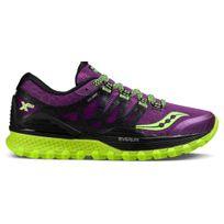 Saucony - Progrid Xodus Iso Violette Et Jaune Chaussures de trail