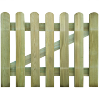 Rocambolesk - Superbe Portillon en bois 100 x 80 cm neuf