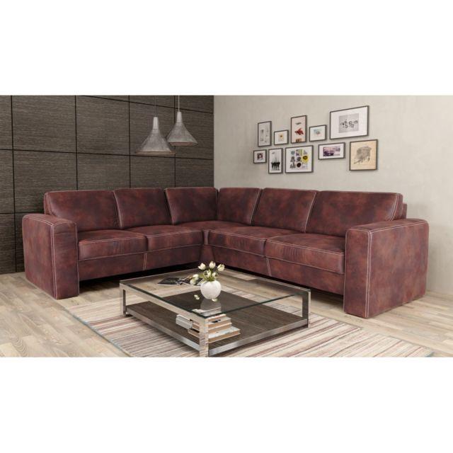 Rocambolesk Canapé Santorini 2A2,5 Tobago 14 brun angle gauche sofa divan