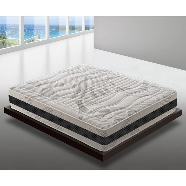 Materassi&DOGHE Matelas 80x190 à mémoire de forme 11 zones différenciées 28cm de hauteur modèle deluxe