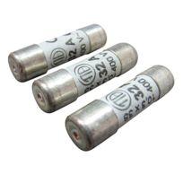 Tibelec - Lot de 3 fusibles 10,3x38mm 32A 500V avec voyant
