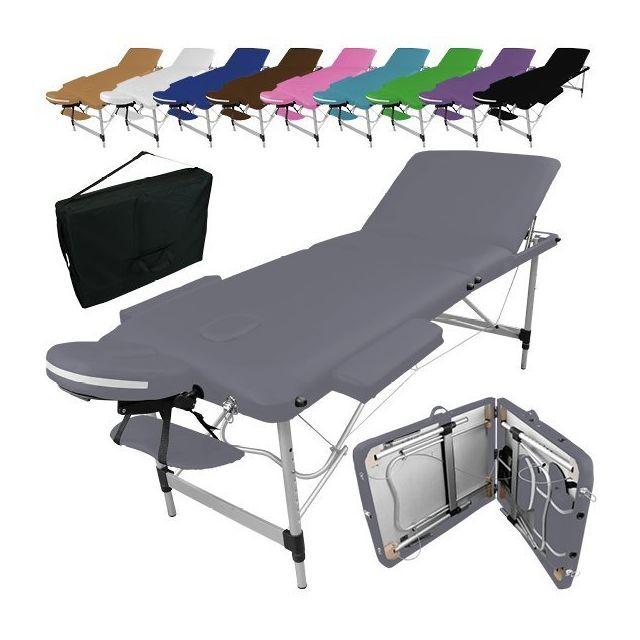 vivezen table de massage pliante 3 zones en aluminium accessoires et housse de transport. Black Bedroom Furniture Sets. Home Design Ideas
