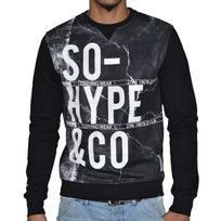 Sohype - So Hype - Sweat Shirt - Homme - So Hype Co Texture - Noir