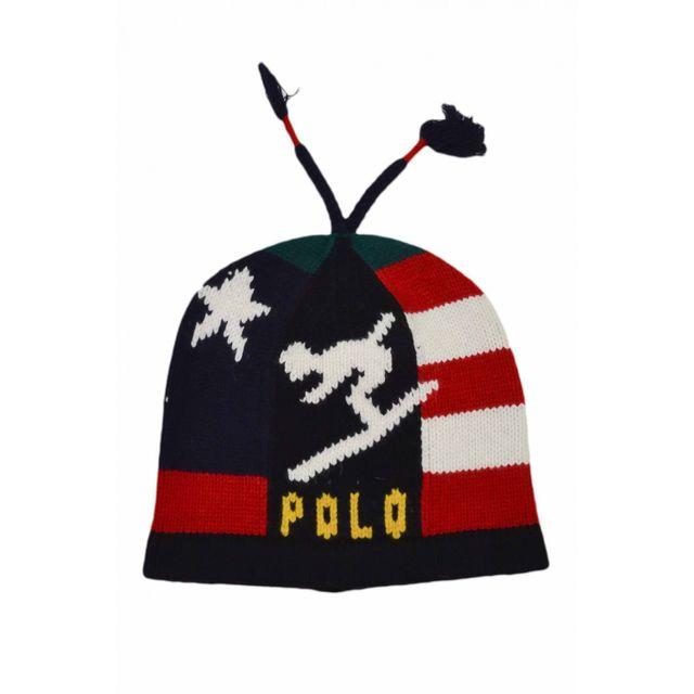 Ralph Lauren - Bonnet en laine à motif bleu marine pour homme - pas cher  Achat   Vente Casquettes, bonnets, chapeaux - RueDuCommerce a11e697ca67