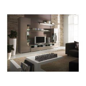 chloe design meuble tv design mural noa taupe pas cher achat vente meubles tv hi fi. Black Bedroom Furniture Sets. Home Design Ideas