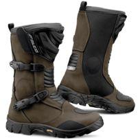 Falco , bottes moto route \u0026 tout terrain 412 Mixto 2 Adv d3o étanche marron