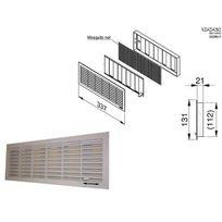 Doco - Grille de ventilation Blanche 132x338 intérieur, verrouillable/ obturable