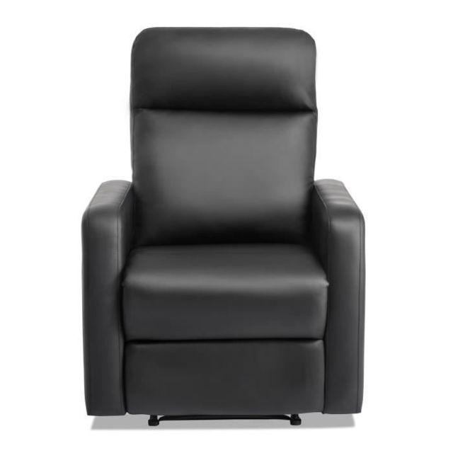 FAUTEUIL Fauteuil de relaxation électrique - Simili noir - Classique - L 76 x P 88 cm