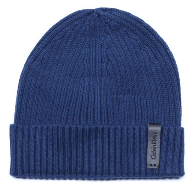Calvin Klein - Bonnet K50k501334 Octave Hat 411 Marine - pas cher ... 4c9c7354430