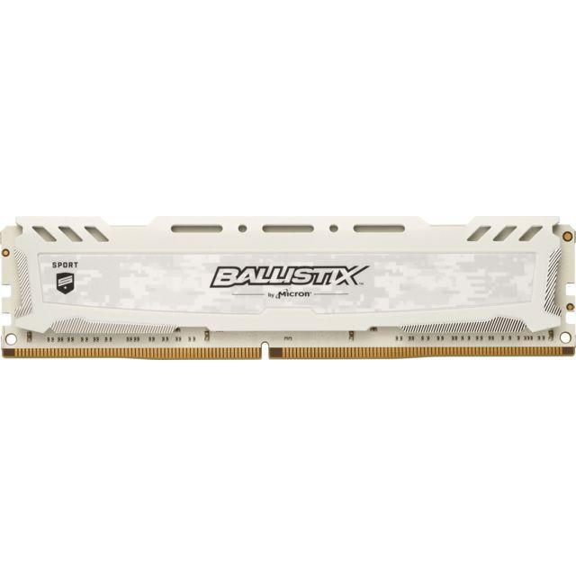 BALLISTIX Sport LT White 8 Go 2x4 Go, 2666 Mhz DDR4 CL16