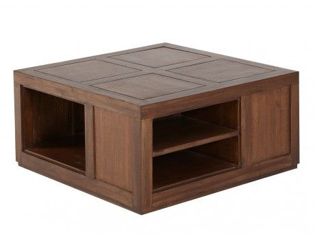 vente unique table basse bombay ii teck massif pas cher achat vente meubles tv hi fi. Black Bedroom Furniture Sets. Home Design Ideas