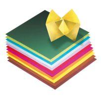 - papier pliage 20x20 assorti - pochette de 100