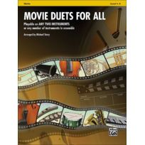 Alfred Music - Partitions Variété, Pop, Rock. Alfred Publishing Story Michael - Movie Duets For All - Violin Cordes