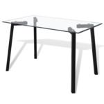 Vidaxl Table avec plateau en verre transparent et pieds acier