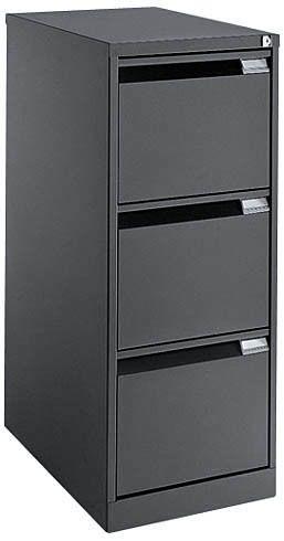 Classeur monobloc pro 3 tiroirs pour dossiers suspendus anthracite pas cher achat vente - Classeur 3 tiroirs dossiers suspendus ...