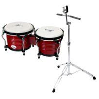 Xdrum - Bongo Pro Vintage Set incl. pied de bongos
