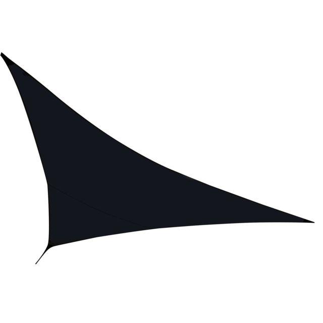 Helloshop26 Voile toile d'ombrage taud de soleil noire 3,6 x 3,6 mètres parasol solaire 2217003