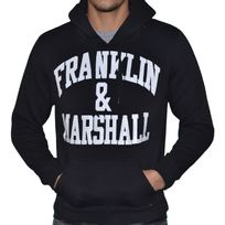 Franklin & Marshall - Franklin Marshall - Sweat à Capuche - Homme - Fm Sweat - Noir Blanc