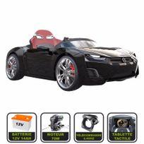 Cristom - Voiture électrique de luxe 12V pour enfant Henes Broon F830 tablette tactile, télécommande Bluetooth noir