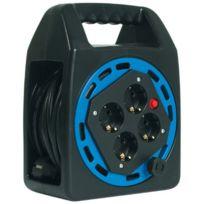 Bachmann - 393.006 Enrouleur de câble électrique 4 prises de courant Schuko incluses 20 m