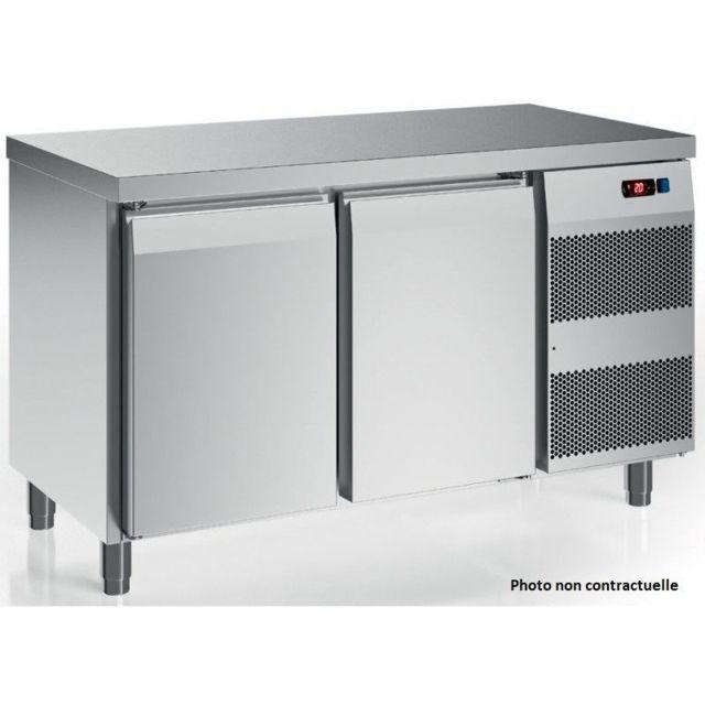 Materiel Chr Pro Table Réfrigérée Inox Série Kansas 600 avec Dosseret - 185 L à 395 L - Afi Collin Lucy - 1408x600 600