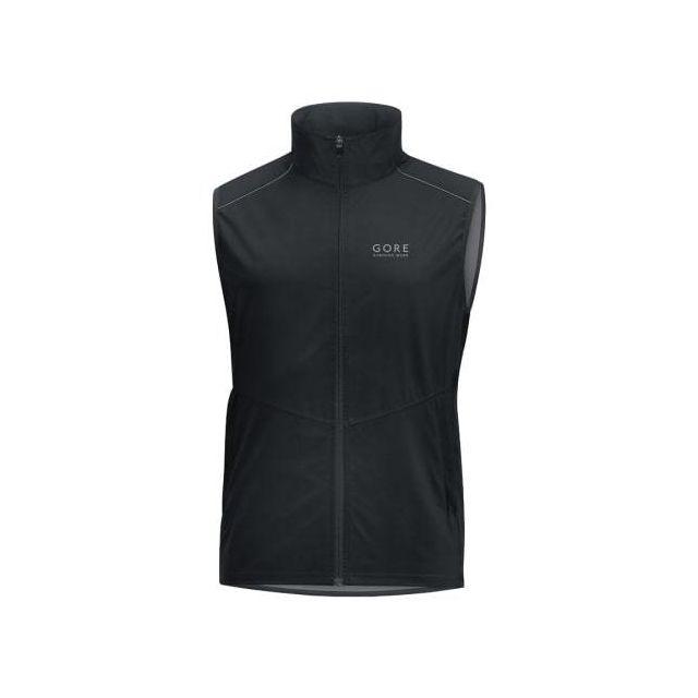 Gore Running Wear Gilet Essential Gws Windstopper noir
