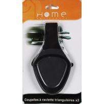 HOME EQUIPEMENT - Coupelles à raclette triangulaires - Qté 2 - Noir