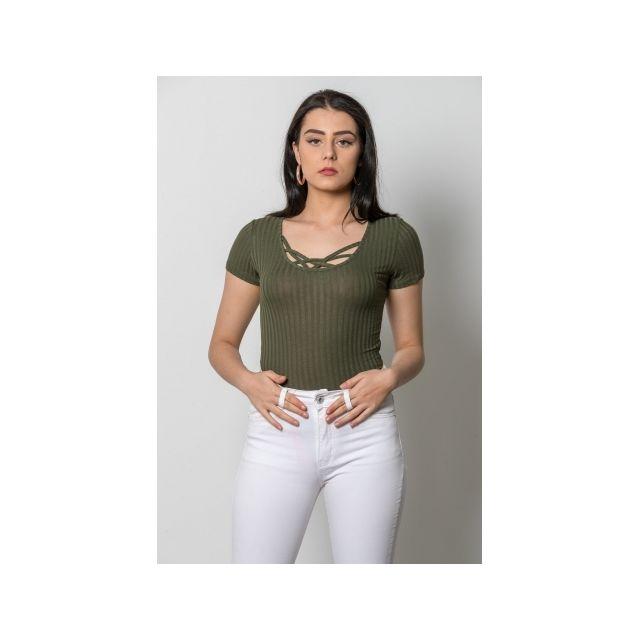Princesse Boutique - Body Vert décolleté croisé - pas cher Achat ... 5971d080c58